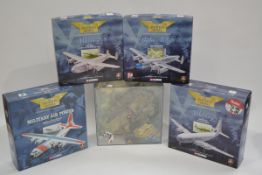 Corgi Aviation Archive 1:144 Scale Military and Civil Aircraft, military models comprising a cased