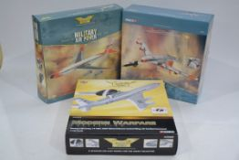 Corgi Aviation Archive 1:144 Scale Military Aircraft, three boxed limited edition examples