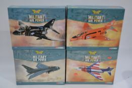 Corgi Aviation Archive 1:72 Scale Military Airpower Jet Aircraft, four boxed limited edition