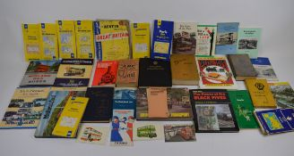 A collection of transport related books and ephemera including, British and French maps and travel