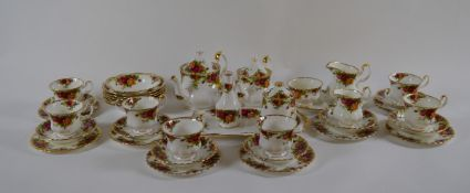 A collection of Royal Albert Old Country Roses, including teapots, cups and saucers etc. (39)