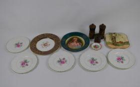 A mixed lot of ceramics including, Coalport Country Roses, Denby stoneware cruet set, various
