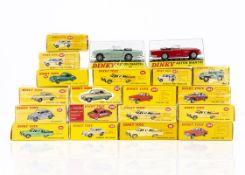 Atlas Edition Dinky Toy Cars, including 182 Porsche 356A Coupe, 191 Dodge Royal Sedan, 157 Jaguar