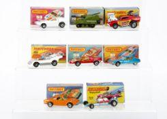 Matchbox Superfast, 66 Mazda RX 500, 51 Citroën SM, 56 Hi-Tailer, 26 Big Banger, 70 S-P Gun, 53