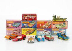 Matchbox Superfast, 3 Monteverdi Hai, 35 Fandango, 17 The Londoner, 55 Hellraiser, 68 Cosmobile,