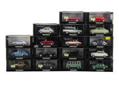 1:43 Minichamps Models, including 400 137262 Aston Martin DB5 1964, 400 065020 Porsche 356 Stuttgart