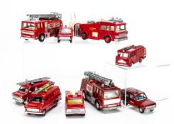 Dinky Toy Fire Engines, 266 E.R.F Fire Tender, 285 Merryweather Marquis Fire Tender (2), 195 Range