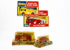 Dinky Toys 266 E.R.F Fire Tender, 263 Airport Fire Rescue Tender, 285 Merryweather Marquis Fire