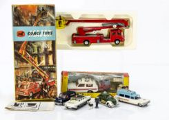 Corgi Toys Emergency Service Vehicles, 1127 Simon Snorkel Fire Engine, 461 Police 'Vigilant' Range