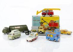 Corgi Toy Commercial Vehicles, 1128 Priestman Cub Shovel, in original box, loose 486 Kennel Club