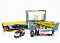 Corgi Major Toys, 1138 Car Transporter with Ford Tilt Cab, 1143 Holmes Wrecker Recovery Vehicle,