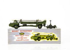 A Dinky Supertoys 666 Missile Erector Vehicle, with Corporal Missile and Launching Platform, in
