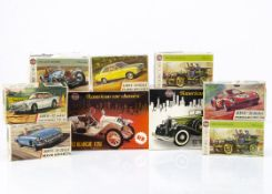 1960s-70s Airfix 1:25 & 1:32 Car Kits, 1:25 1914 Stutz Bearcat, 1932 Chrysler Imperial, 1:32 Ferrari