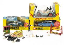A Corgi Toys 302 Hillman Hunter With Kangaroo, with unused transfers, instructions and club leaflet,