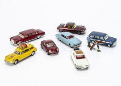 Corgi Toy Cars, 275 Rover 2000, white body, 259 LeDandy Coupe, 440 Ford Consul Cortina Estate,