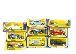 1970s-1980s Corgi Toys, 151 Yardley McLaren, 414 Coastguard Jaguar XJ12C, 158 Elf Tyrrell-Ford F1,