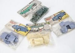 1960s Bagged Airfix 1:32 Car Kits, Austin Healey Sprite Mark 1 (2), M.G 1100 Saloon, Ford Zodiac