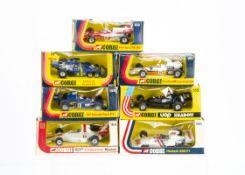 1970s Corgi Toy Racing Cars, 156 Graham Hill's Embassy Shadow, 152 Ferrari 312 B2, 155 UOP Shadow,