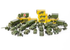 Military Dinky Toys, including 626 Military Ambulance, 643 Army Water Tanker, 676 Armoured Personnel