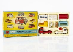 A Corgi Toys Gift Set 24 Commer Constructor Set, comprising two Commer cab chassis units, four