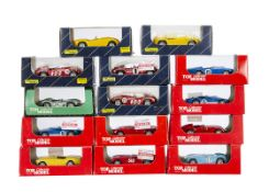 1:43 Top Model Collection, including TMC 126 Talbot-Maserati LM 56, TMC 053 Aston Martin DB35 LM 55,
