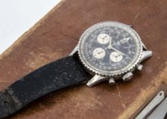 A c1960s Breitling Navitimer stainless steel gentleman's wristwatch, AF, 41mm, Ref. 806, black