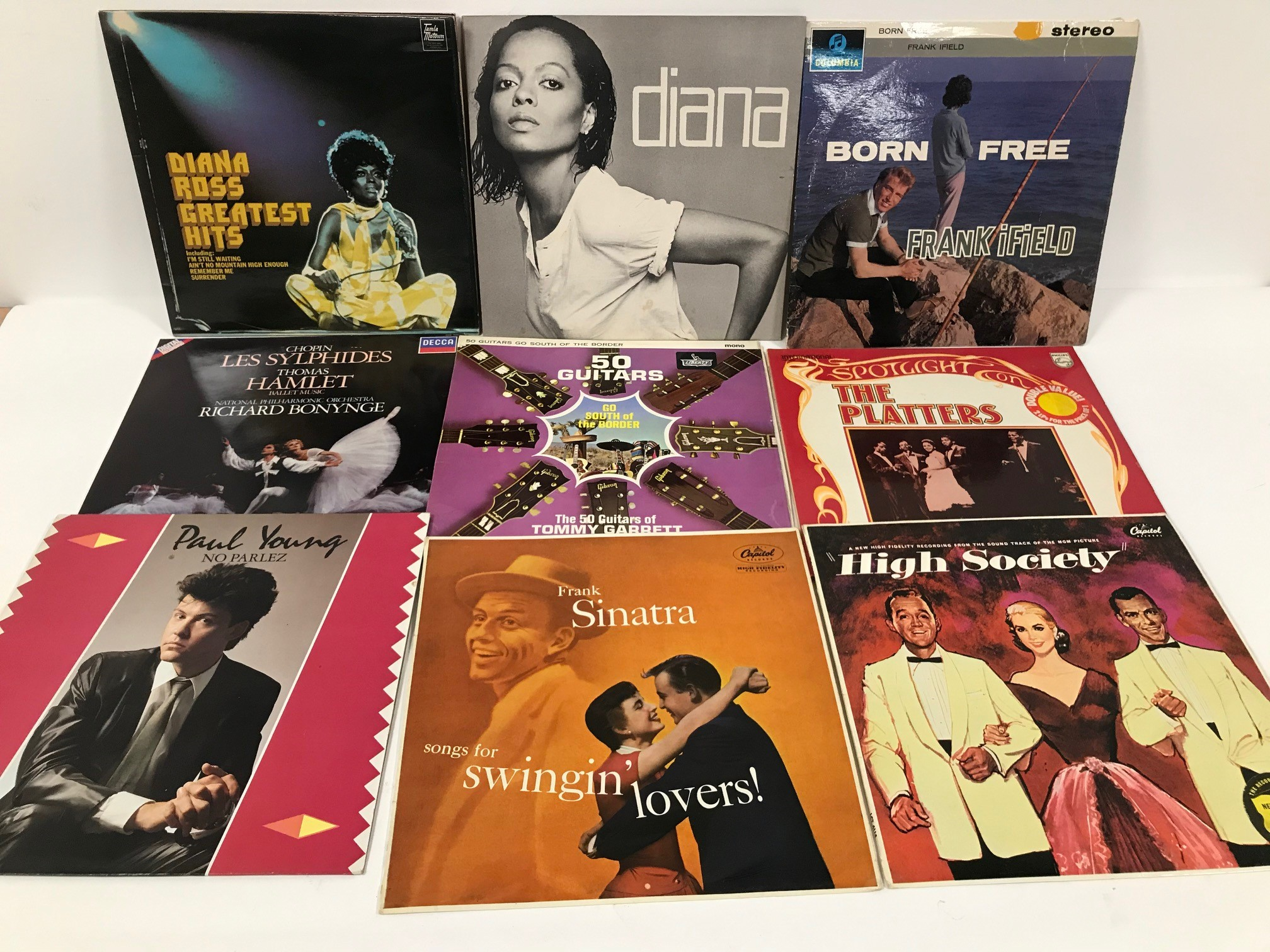 A collection of 1960s and later vinyl albums and records, approx 60, various titles and conditions