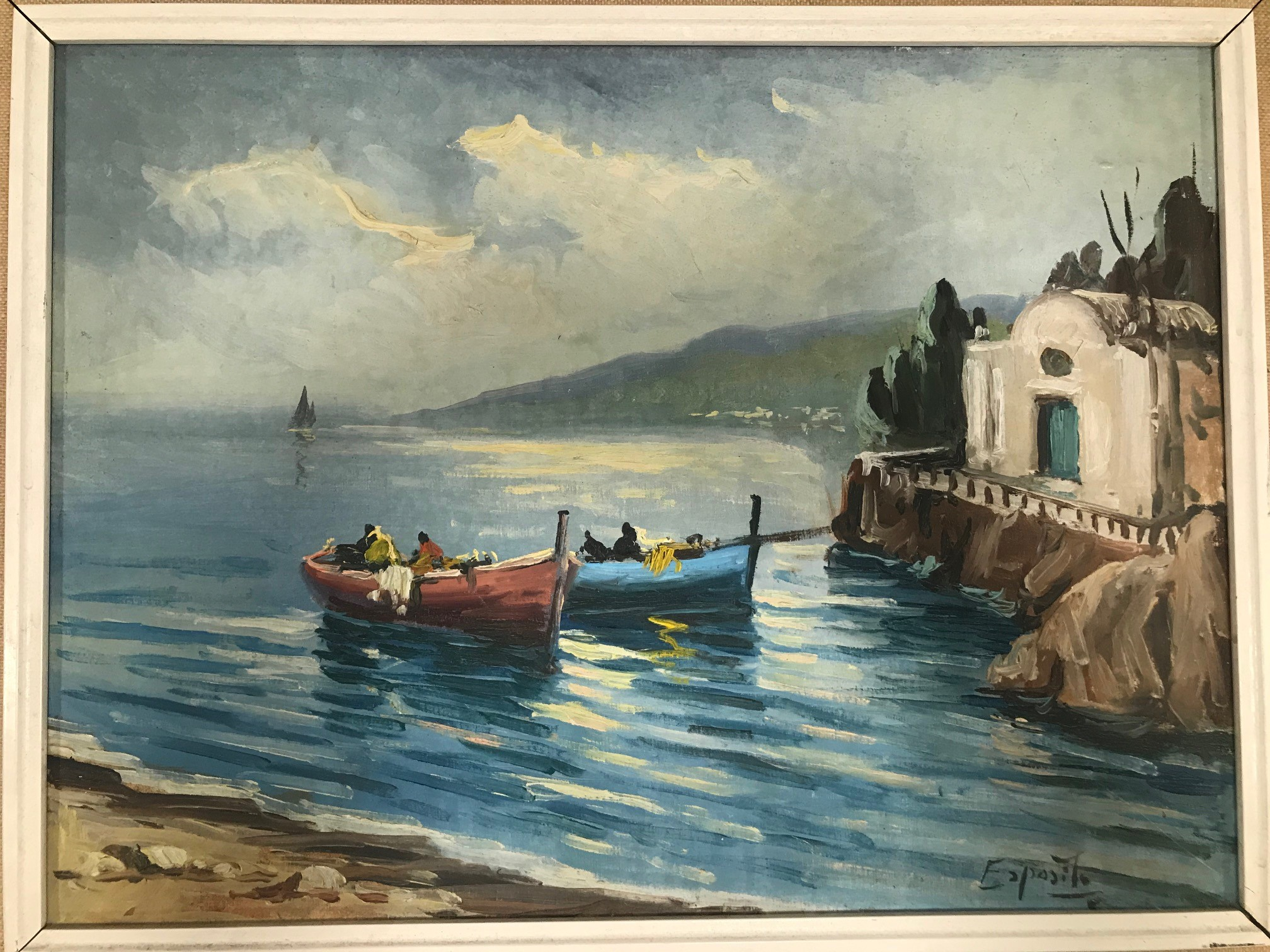 """Three 20th century paintings of nautical and boating interest, including """"Poole Harbour"""" by Ruby - Image 4 of 4"""