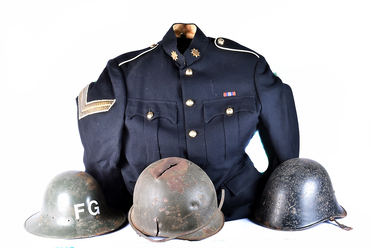 An East Surrey Regiment Corporal's Dress Uniform, comprising of Jacket and Trousers, the jacket
