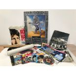 A group of music ephemera and posters, including several Beatles related magazines and leaflets, a