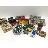 A collection of diecast and other toys, including approx 30 Days Gone models, other boxed and