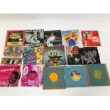 """A collection of 1960s and later 7"""" singles, including The Beatles Magical Mystery Tour booklet"""