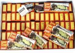 Boxed ex-shop stock Lone Star Locos '000' N gauge push-along Trains, comprising 2 Gresley A4 locos