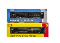 Dapol N gauge GWR Locomotives and Tenders, both in GWR green, 4-6-0 no 6800 'Arlington Grange'
