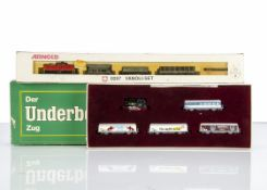 N Gauge Continental Arnold and Roco Freight Sets, two sets Arnold 0257 Vanoli-Set includes Re 4/4