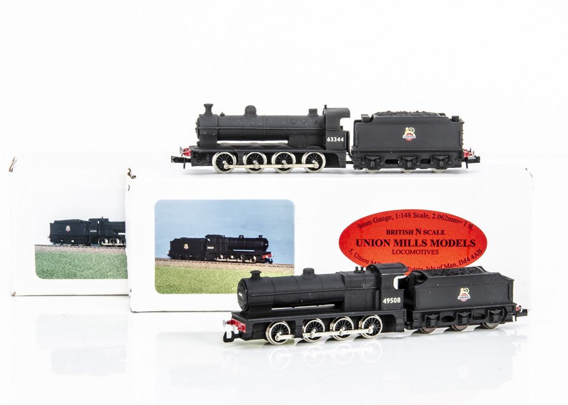 Union Mills British Outline Steam Locomotives and Tenders, two boxed examples BR ex Great Northern