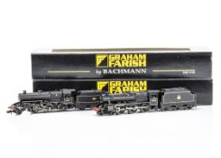Graham Farish By Bachmann BR Steam Locomotives and Tenders, both cased with card sleeves, 372-225