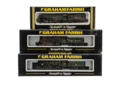 Kit-bodied or Modified Graham Farish N gauge GWR Collett Locomotives and Tenders, all 4-6-0's in GWR
