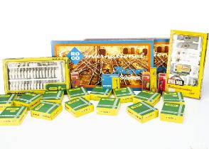 N Gauge Catenary Track and Signals, a boxed collection includes Brawa 1143 level crossing set,