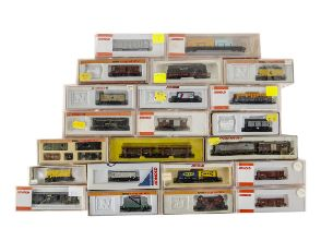 Arnold N Gauge Continental Freight Wagons, various examples mainly cased, includes sliding door