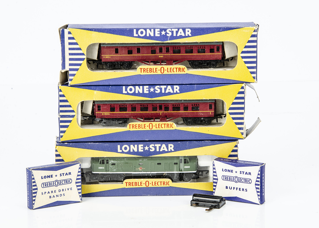An Uncommon Lone Star 'Treble-O-Lectric' 000 N gauge Deluxe Scenic Electric Train Set, containing BR - Image 2 of 2