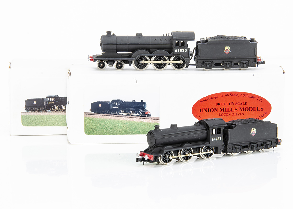Union Mills British Outline Steam Locomotives and Tenders, two boxed examples Class B12/3 61520