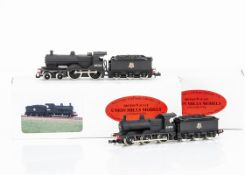 Union Mills British Outline Steam Locomotives and Tenders, two boxed both BR ex Midland Railway,