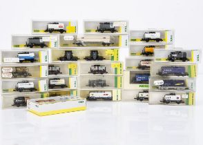Minitrix Continental N Gauge Tank Wagons and Iron Ladle Cars, mainly in cases 17102.900, 901, 902,