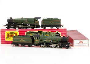 Boxed Hornby-Dublo 00 gauge 2-rail 'Castle' class Steam Locomotives, ref 2220 'Denbigh Castle' no