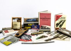 A Bachmann N gauge American GP40 Locomotive and other items, the GP40 in 'Conrail' blue, missing cab