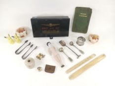 A Maw of Barnet empty 'First Aid Set' tin, together with a selection of collectables to include
