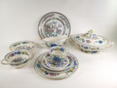 A group of Masons pottery tea and dinner wares in the 'Regency' pattern, to include a twin handled