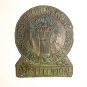 Farmers and General Fire and Life Insurance Institution Fire Marks, 1840-1888, copper - W92A, F,