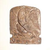 Eagle Insurance Company Fire Mark, 1807-1916, W46A, lead, F-G, polished, ex-E Nugent Linaker